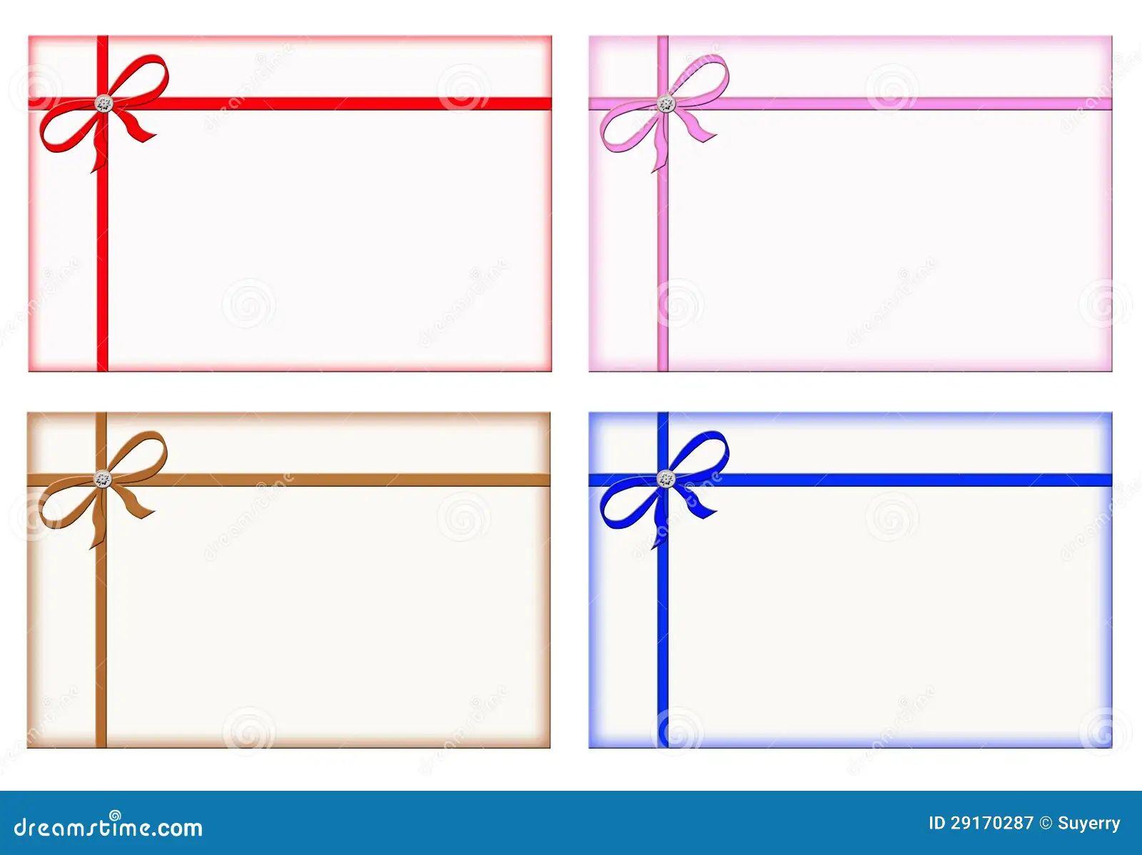 blank response cards