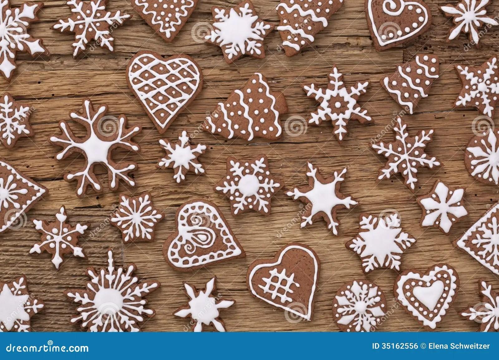 Xmas Cute Wallpaper Gingerbread Cookies Royalty Free Stock Image Image 35162556