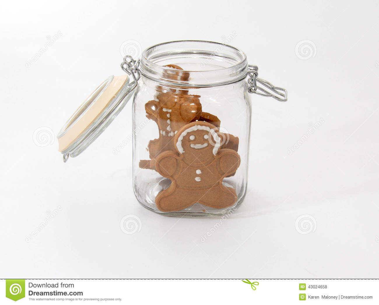 Decorative Cookie Containers Gingerbread Men And Jar Stock Photo Image 43024658