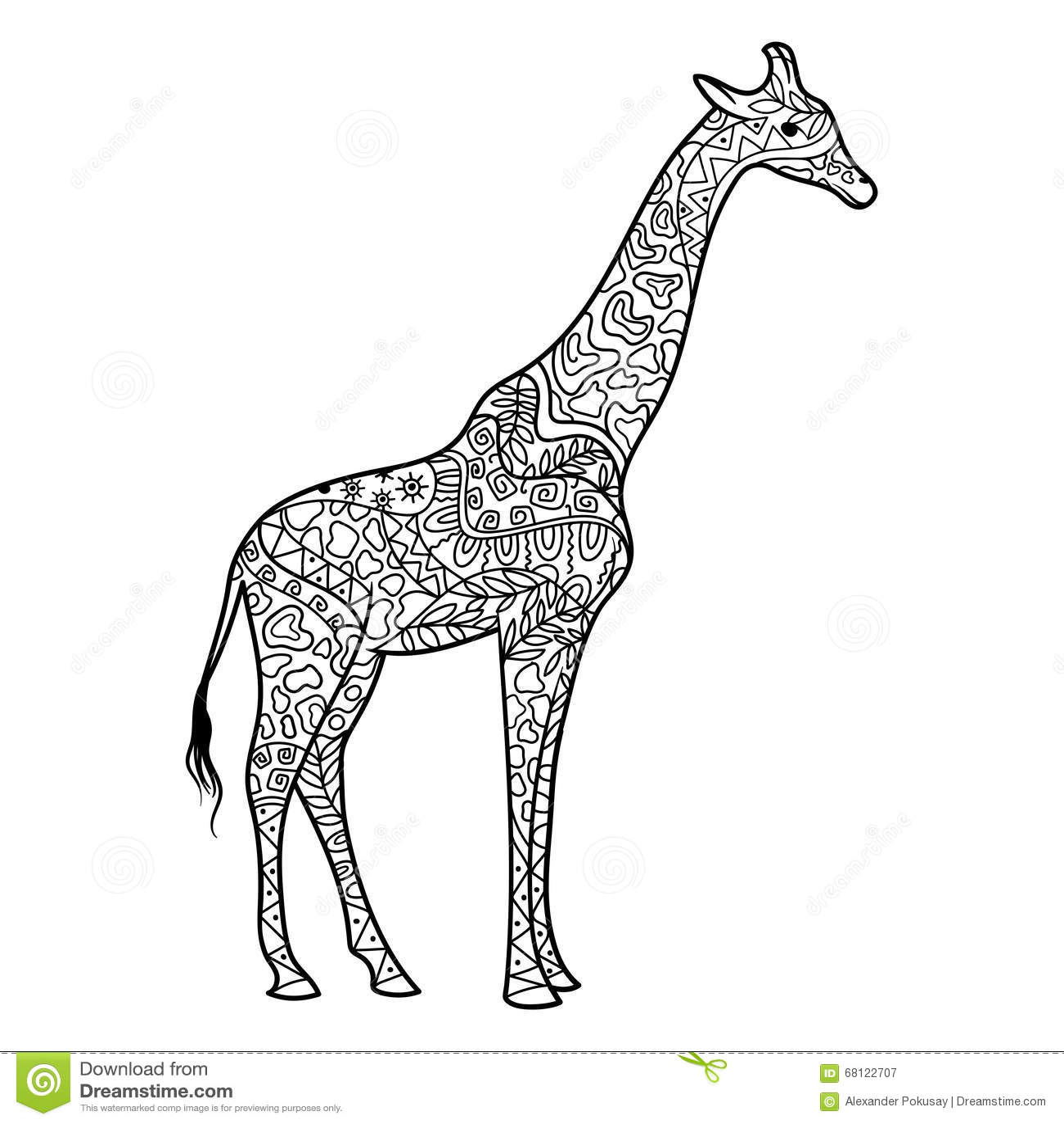 Ze zen inspiration coloring book - Giraffe Coloring Book For Adults Vector Download Image Ze Zen Inspiration