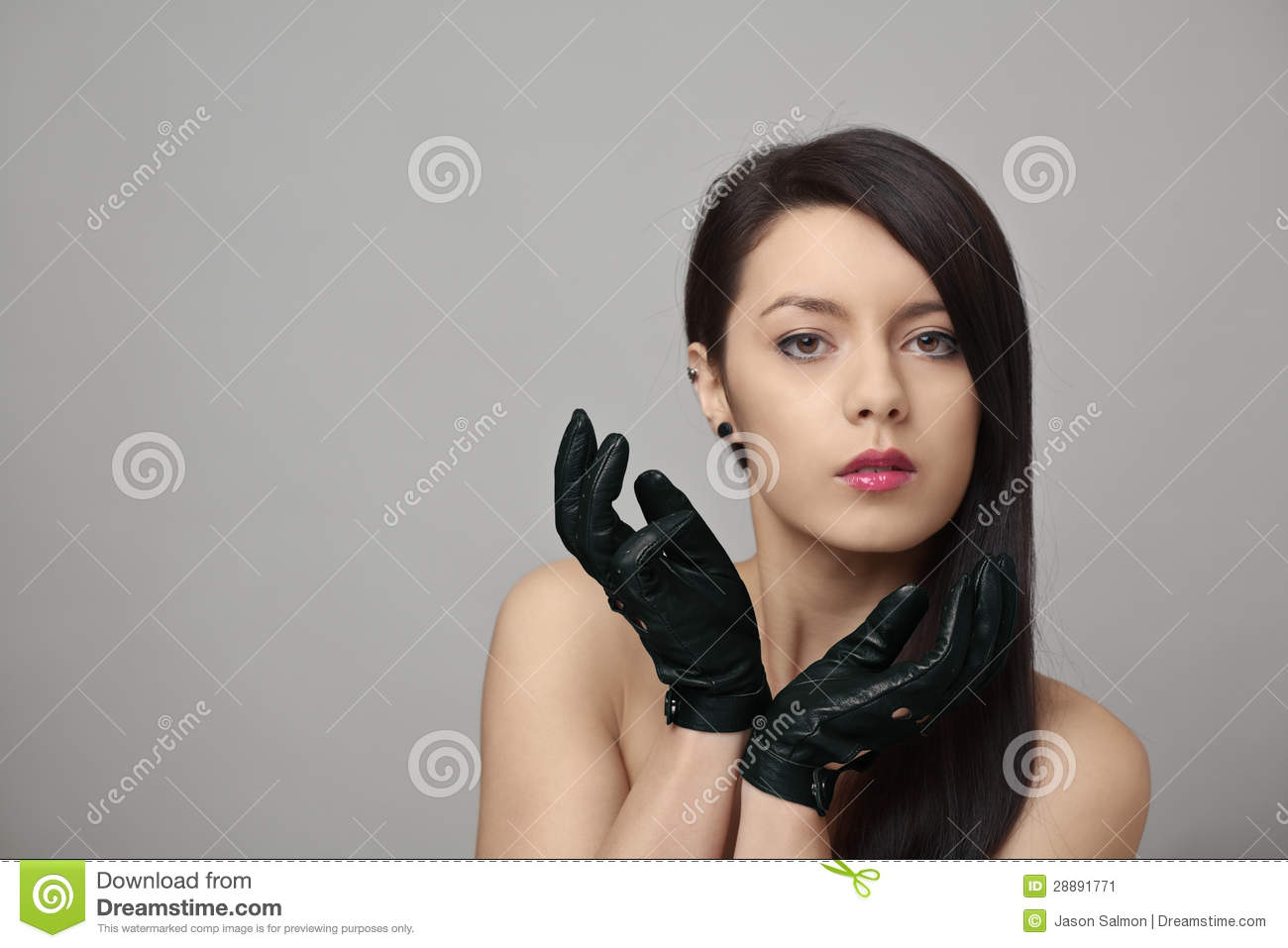 The girl with the driving gloves