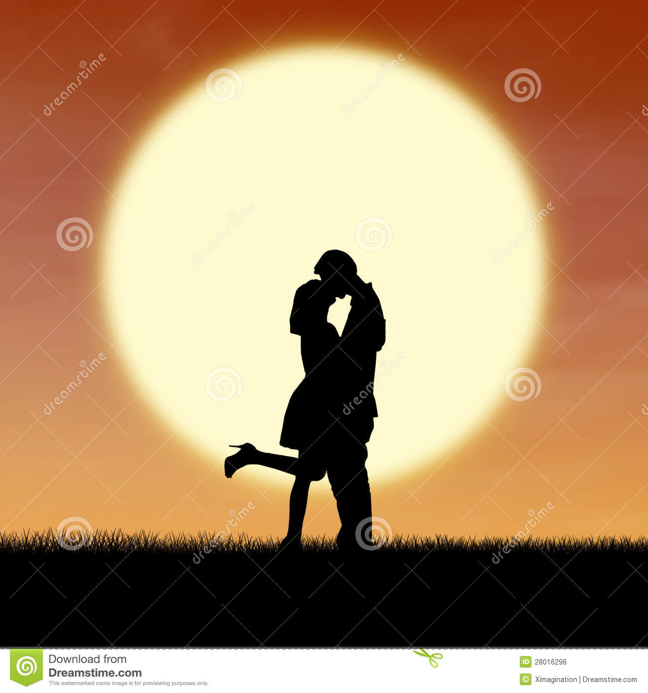 Boy And Girl Friendship Wallpaper Download Girl Kiss Guy On Valentine Sunset Silhouette Royalty Free