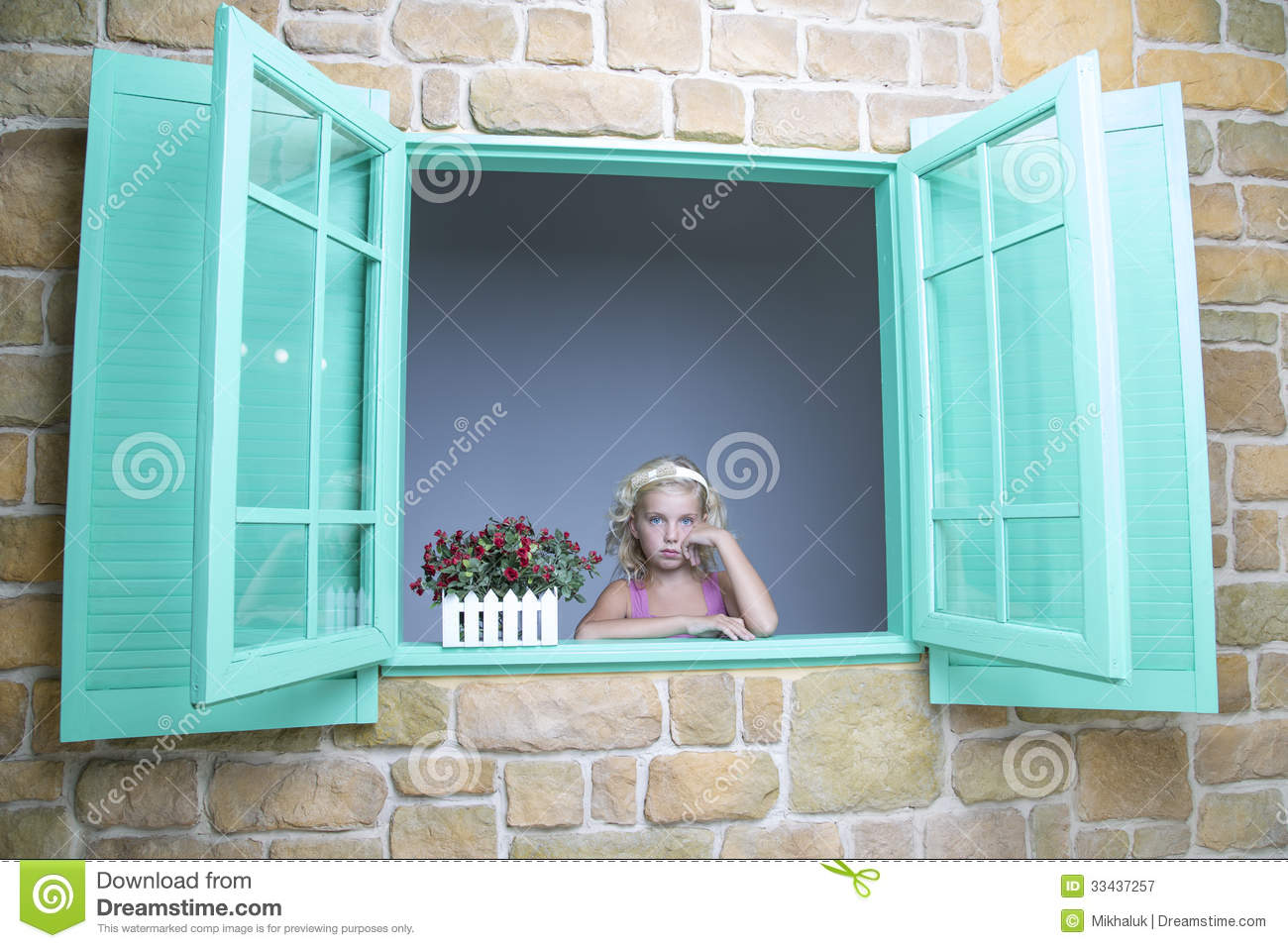 Cute Xmas Wallpapers Free Girl Looking Out Of Window Royalty Free Stock Photography