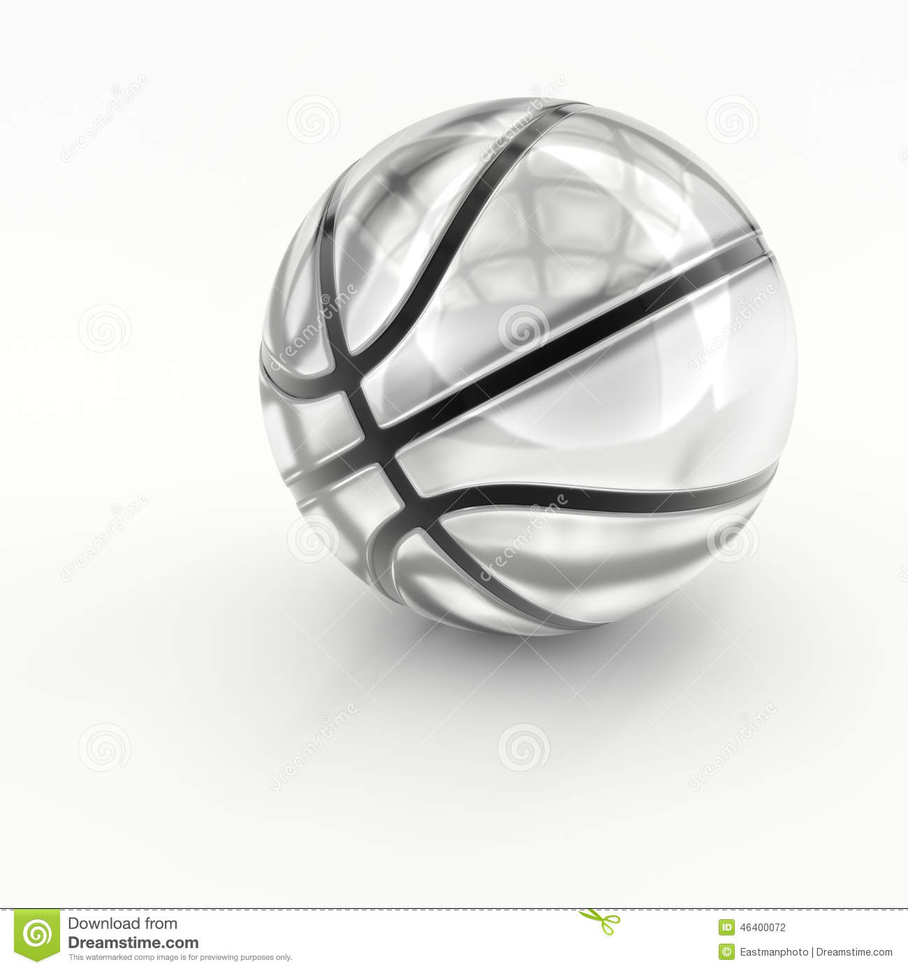 Glas Kristall Glas Kristall Basketball Stock Abbildung Illustration Von