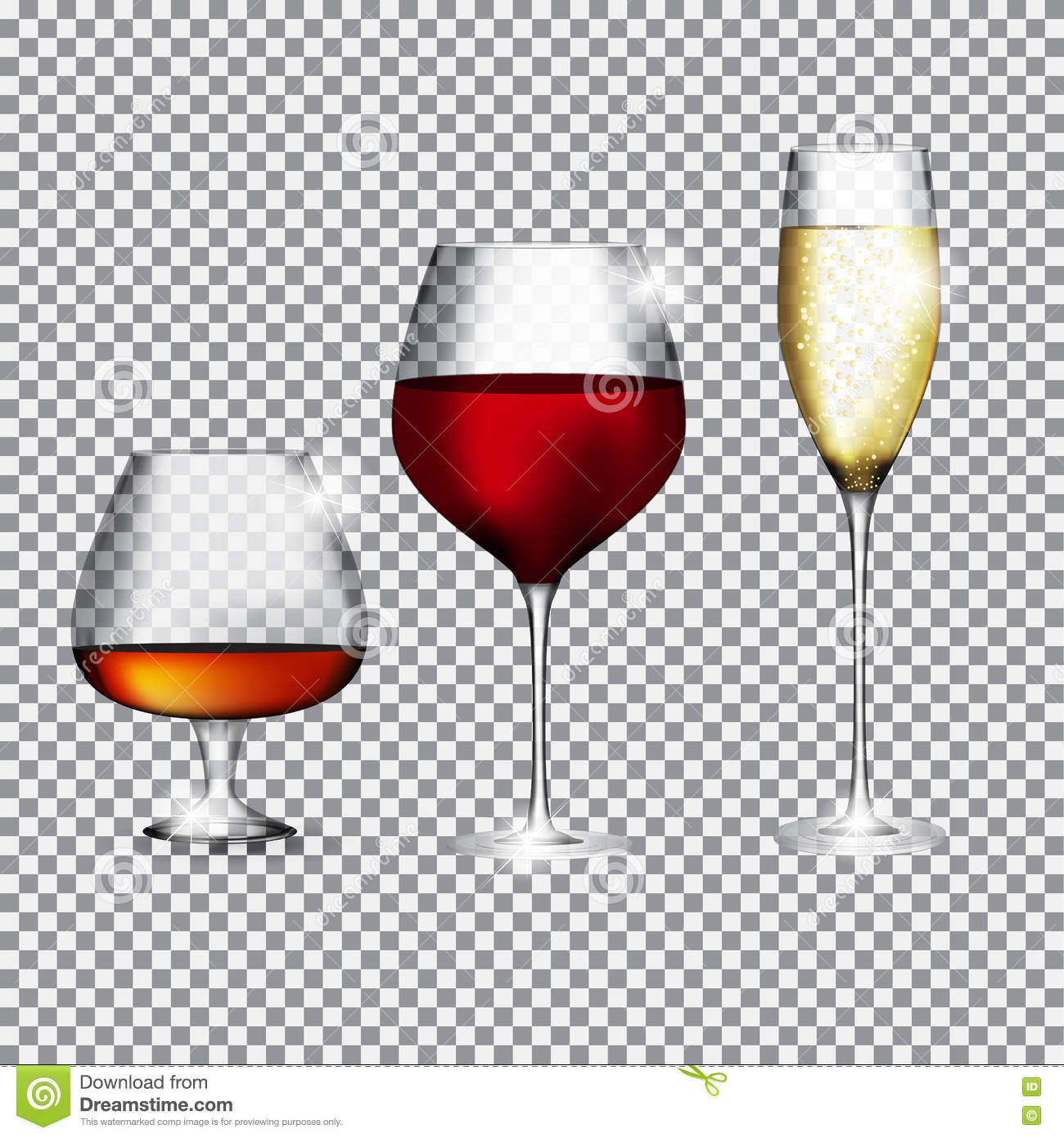 Girl Drinking Alcohol Wallpaper Glass Of Champagne Cognac And Wine On Transparent