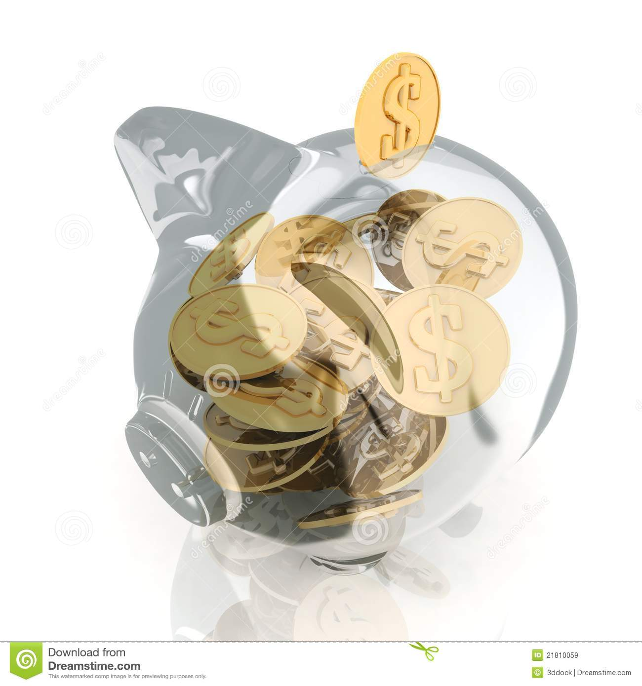 Piggy Glass Glass Piggy Bank Royalty Free Stock Images Image 21810059
