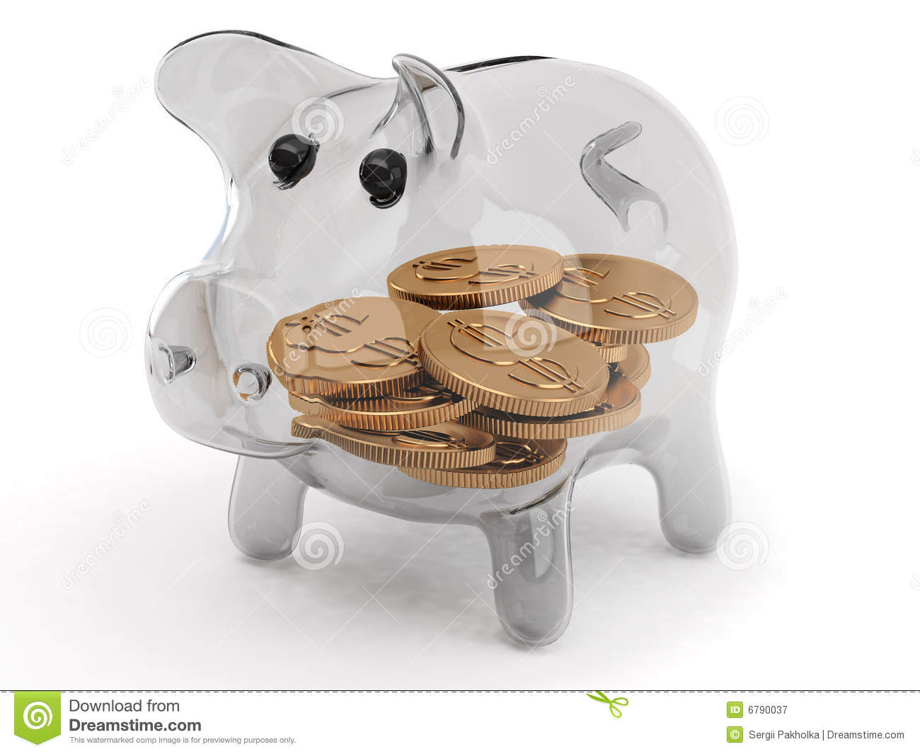 Piggy Glass Glass Piggy Bank Royalty Free Stock Photography Image