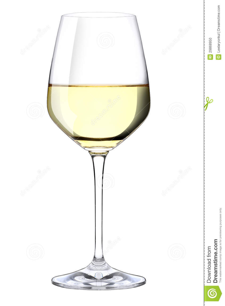 Glas Vin A Glass Of White Wine Stock Photo. Image Of Elegance
