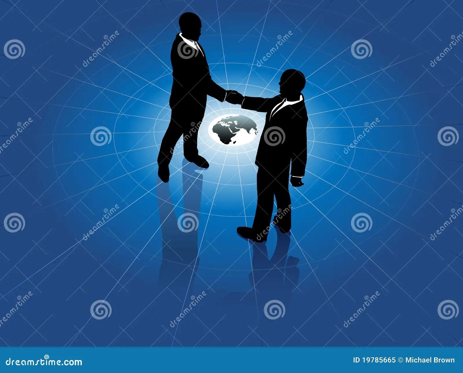3d All Wallpaper Free Download Global Business Men Handshake World Agreement Royalty Free