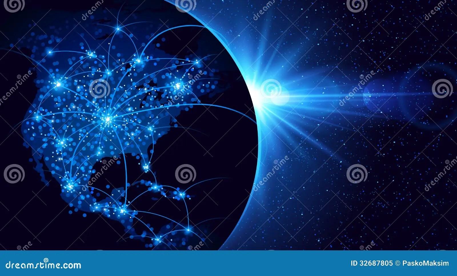 Night View Hd Wallpaper Global Communication Royalty Free Stock Photo Image