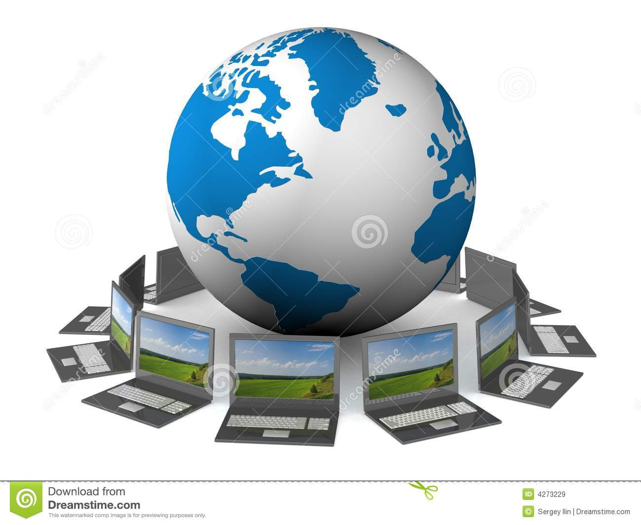 Free Wallpaper Download For Pc 3d Global Network The Internet Stock Illustration