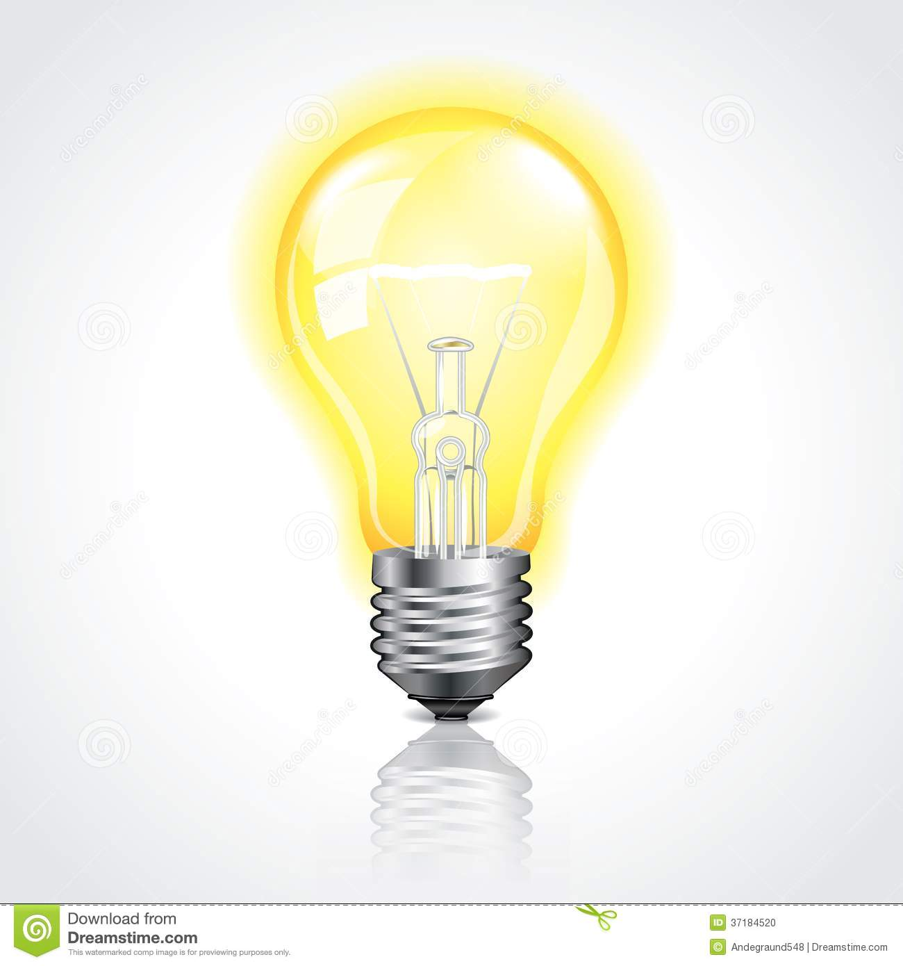 Glowing Bulb Animation Glowing Light Bulb Vector Illustration Stock Photo Image