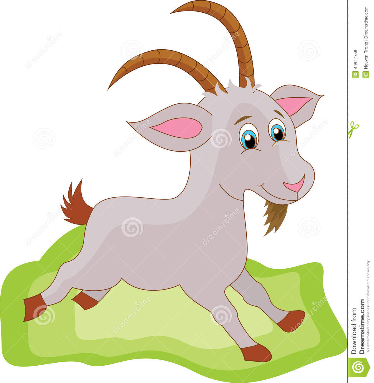 Cute Goat Clipart Goat Cartoon Stock Vector Image 40847756