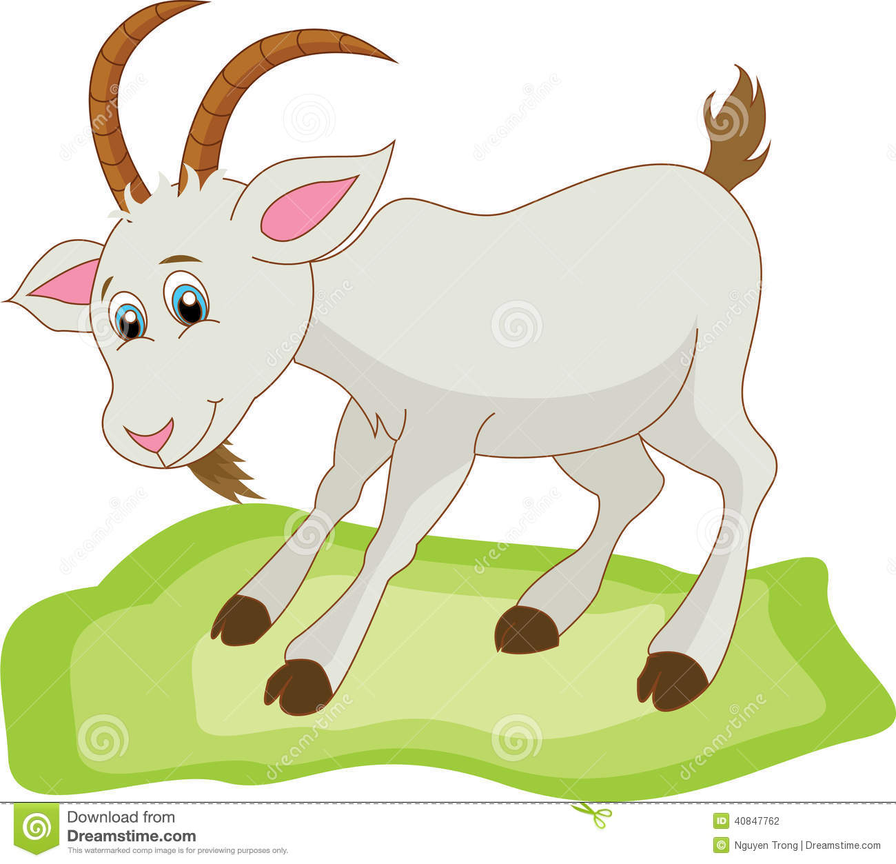 Cute Goat Clipart Goat Cartoon Stock Vector Image 40847762