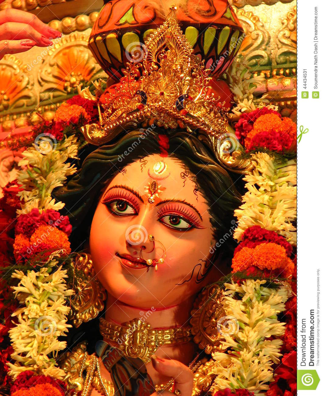 Amman Wallpaper 3d Hd Goddess Durga Idol Stock Photo Image 44434531
