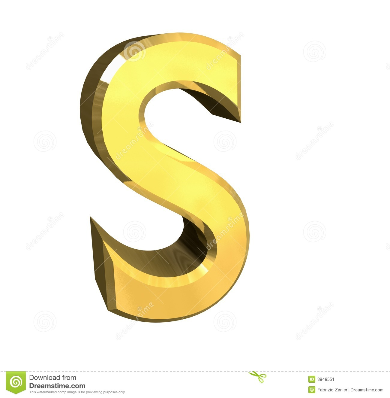 Gold S Gold 3d Letter S Stock Illustration Illustration Of Separated