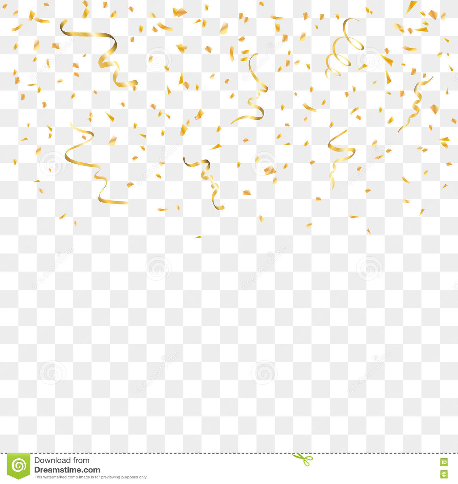 Purple Falling Circles Wallpaper Gold Confetti Background Stock Vector Illustration Of