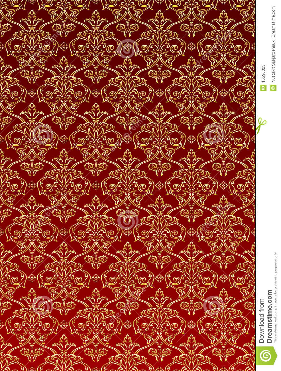 Black And White Victorian Wallpaper Gold Damask Style Wallpaper Stock Vector Illustration Of