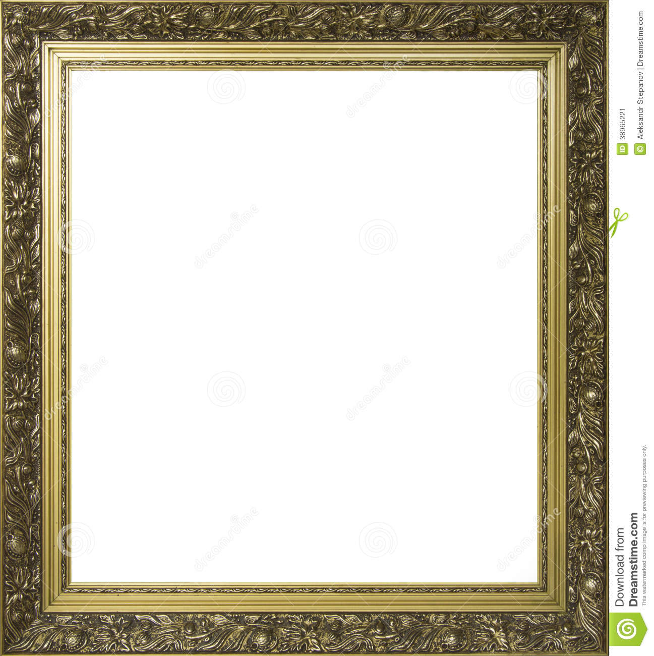 Painting Frames Gold Plated Ornamental Frame For Painting Stock Photo