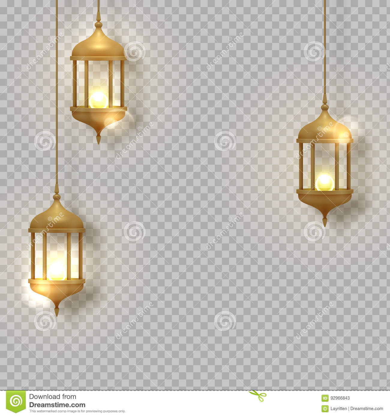 Hanging Lamp Logo Gold Vintage Luminous Lanterns Arabic Shining Lamps