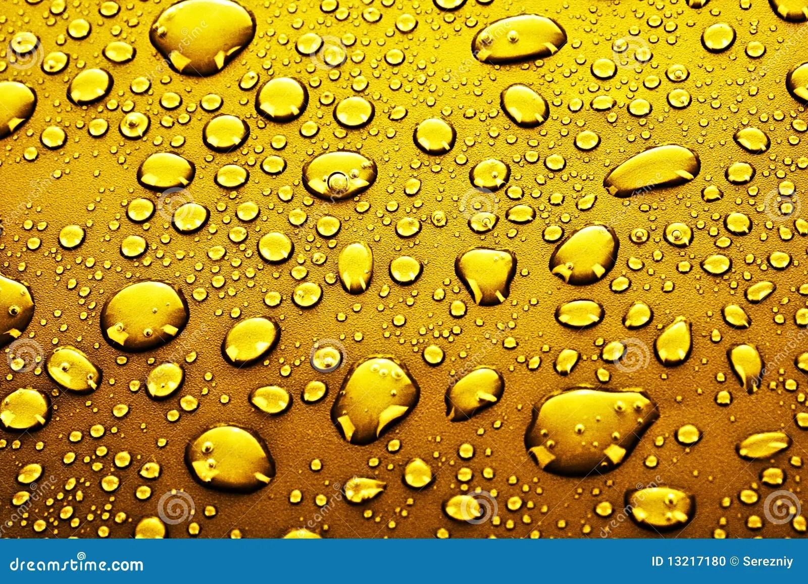 3d Liquid Abstract Wallpaper Gold Water Drops Stock Photo Image 13217180