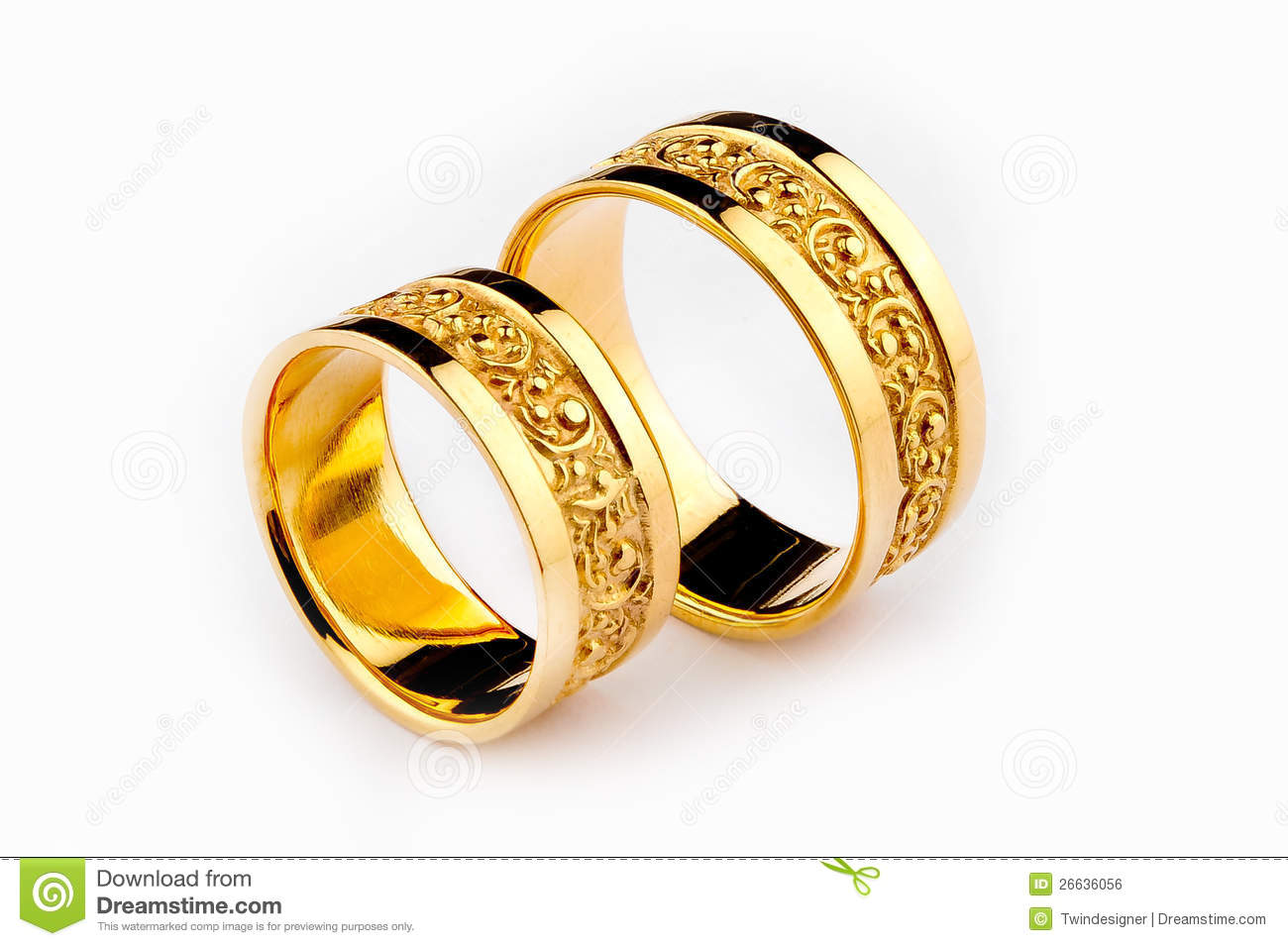 stock image gold wedding rings image gold wedding bands Gold Wedding Rings Royalty Free Stock Image