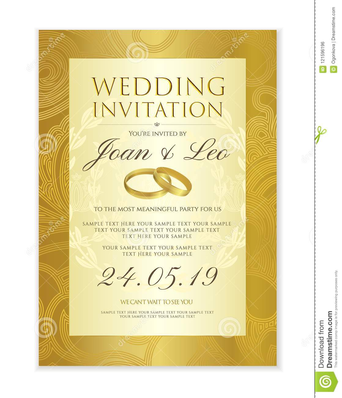 Wedding Invitation Design Template Save The Date Card