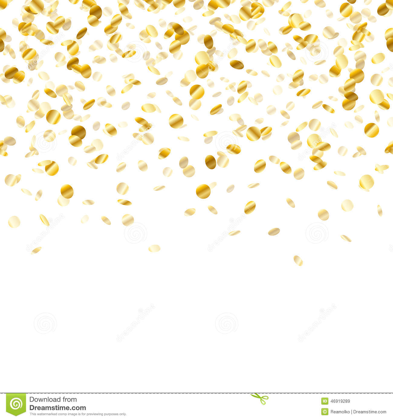 3d Falling Leaves Animated Wallpaper Free Download Golden Confetti Background Seamless Horizontal Stock