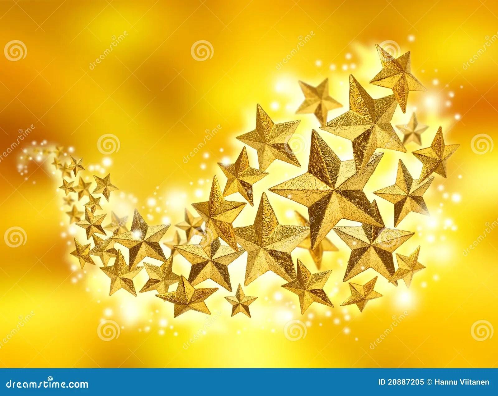 Merry Christmas Desktop Wallpaper 3d Golden Stars Celebration Flow Royalty Free Stock Photo