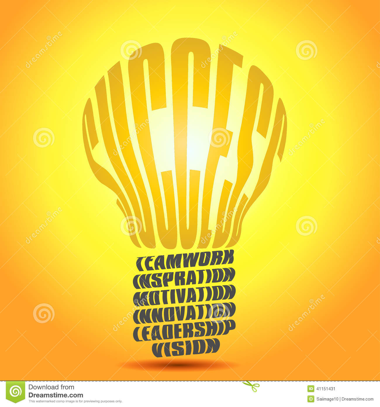 Business Inspirational Quotes Wallpaper Download Golden Success Word Bulb Stock Illustration Illustration