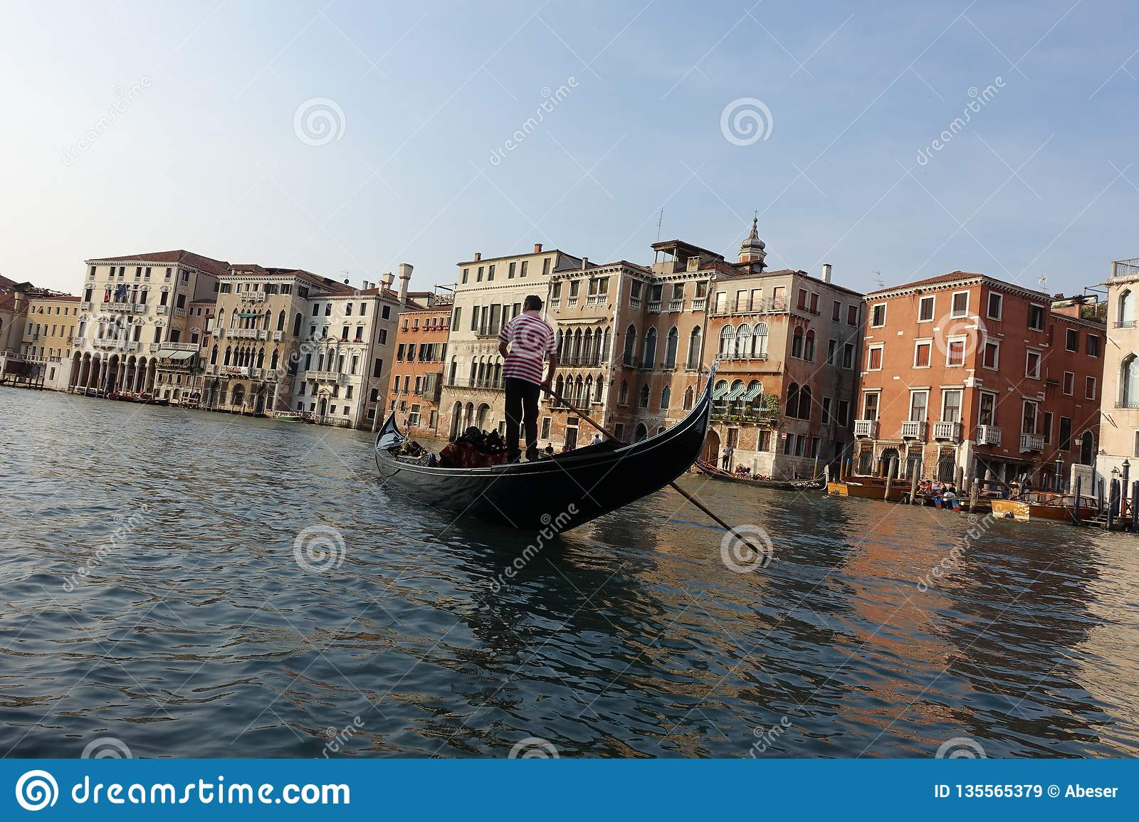Venice Venedig Gondolas In Venice Italy Editorial Stock Image Image Of