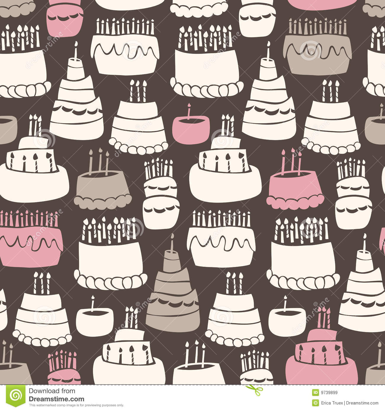 Birthday Cake Wallpaper 3d Download Gooey Birthday Pattern Royalty Free Stock Images Image