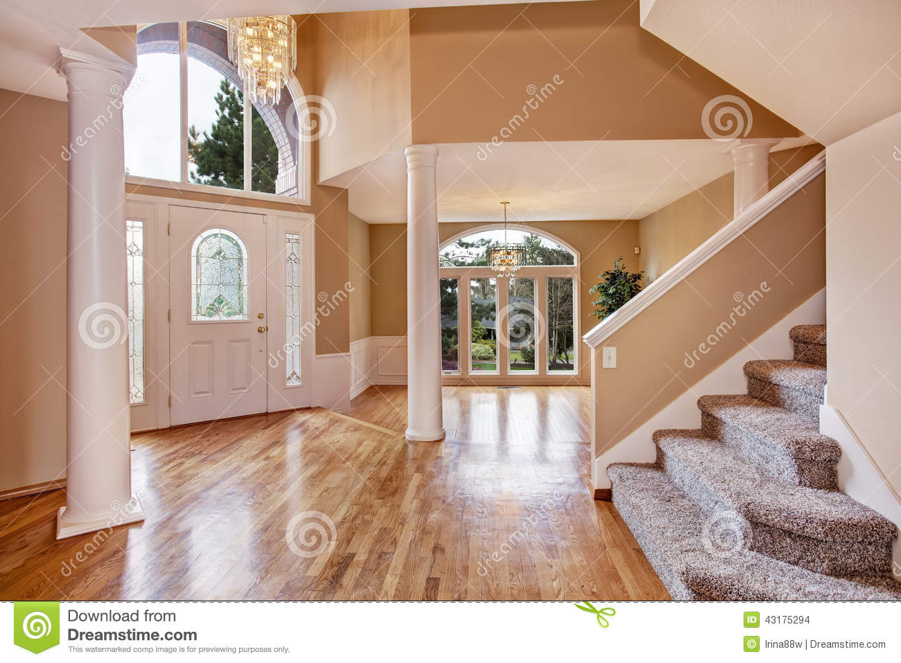 Beautiful Home Entrances Gorgeous Foyer In Luxury House Stock Photo Image 43175294
