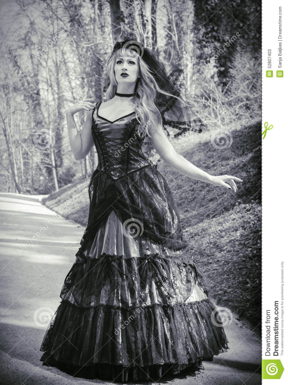 Gothic Girl Wallpaper Free Gothic Bride With Veil Stock Image Image Of Goth