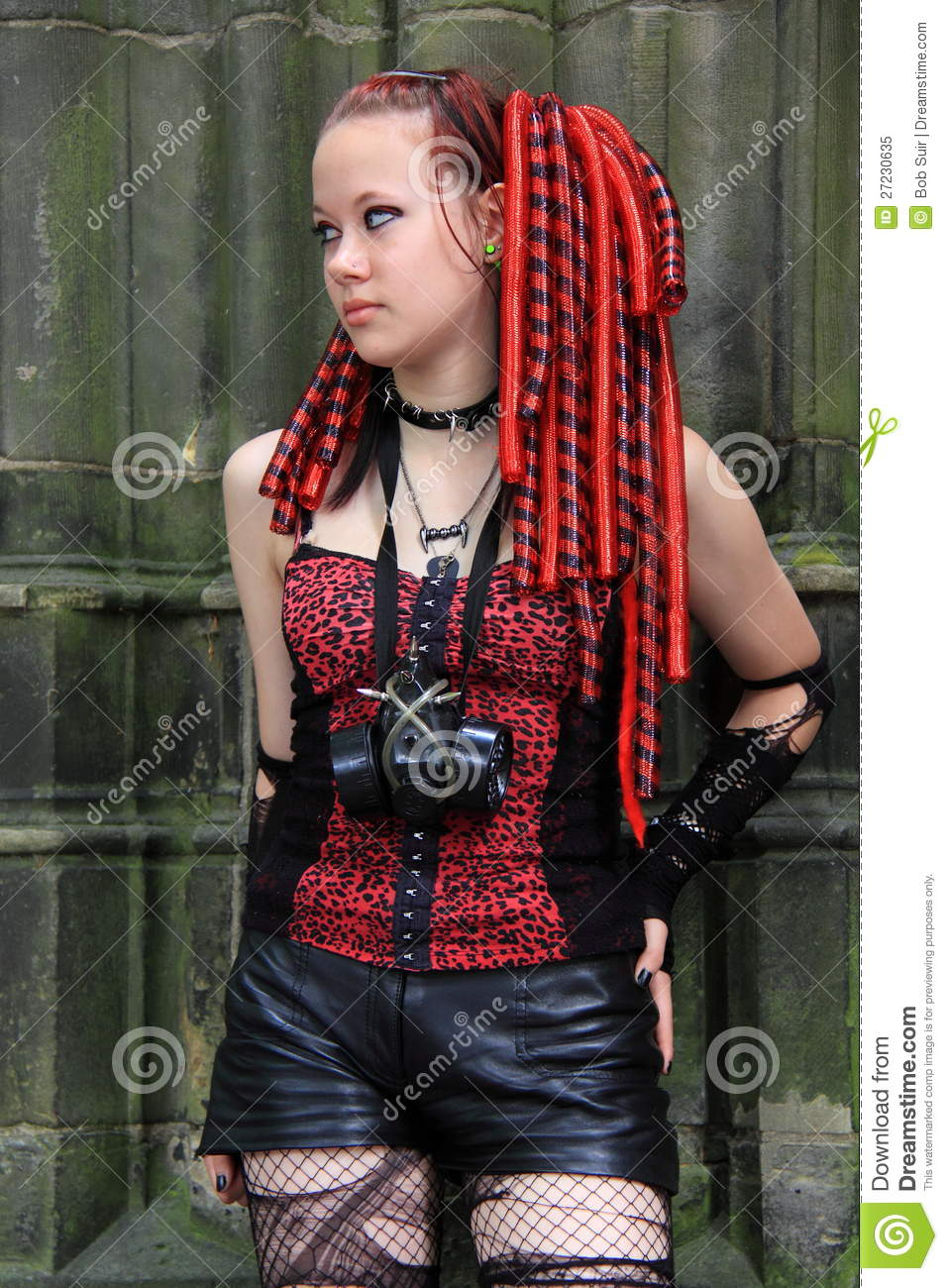 Beautiful Girl Wallpaper Gothic Cyber Girl Hair Extensions Editorial Image Image