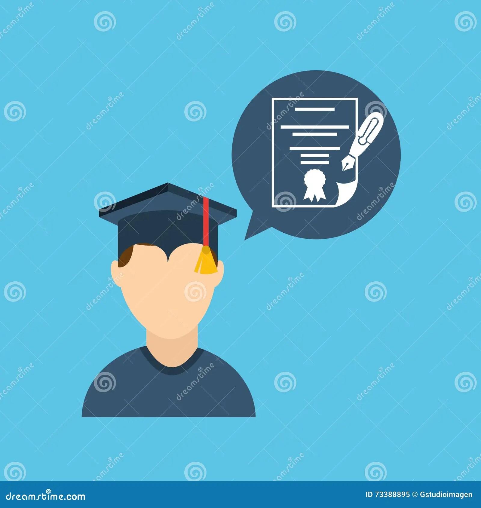 Graduation Celebration Design Stock Illustration - Illustration of