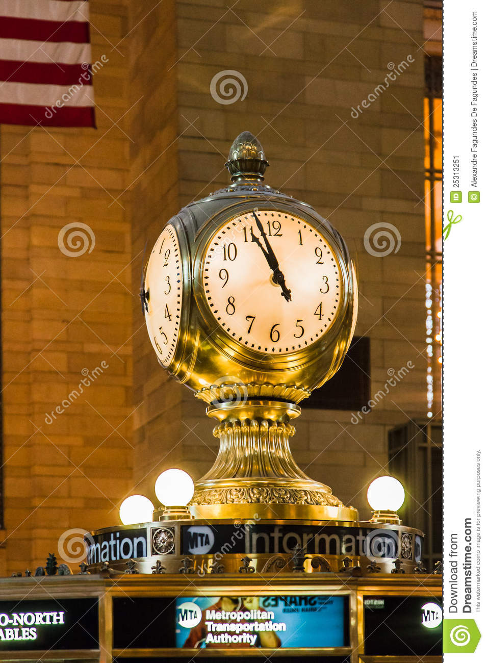 New York Klok Grand Central Station Clock New York City Editorial Photo Image