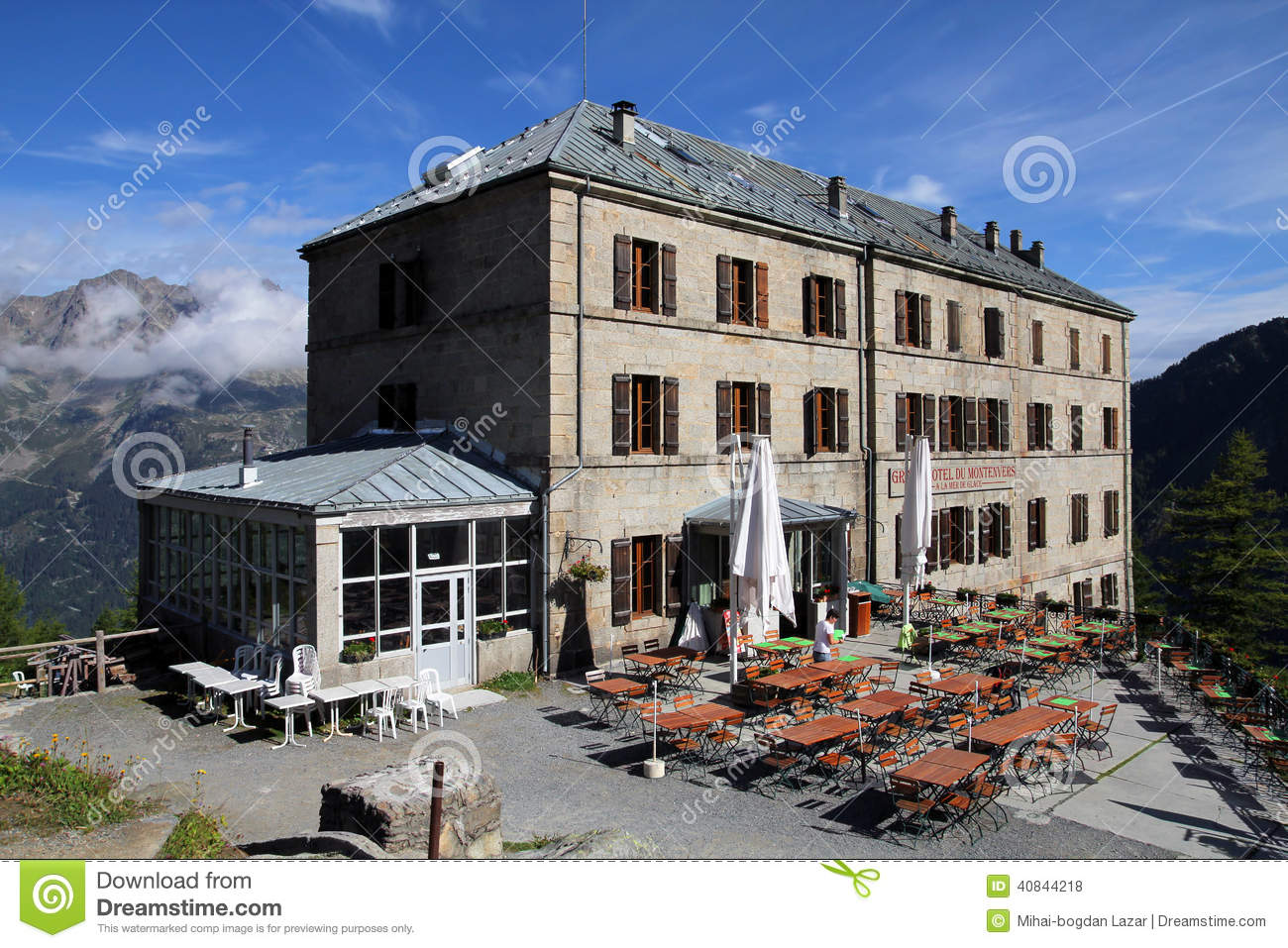 Hotel Montenvers Grand Hotel De Montenvers France Editorial Stock Photo Image Of