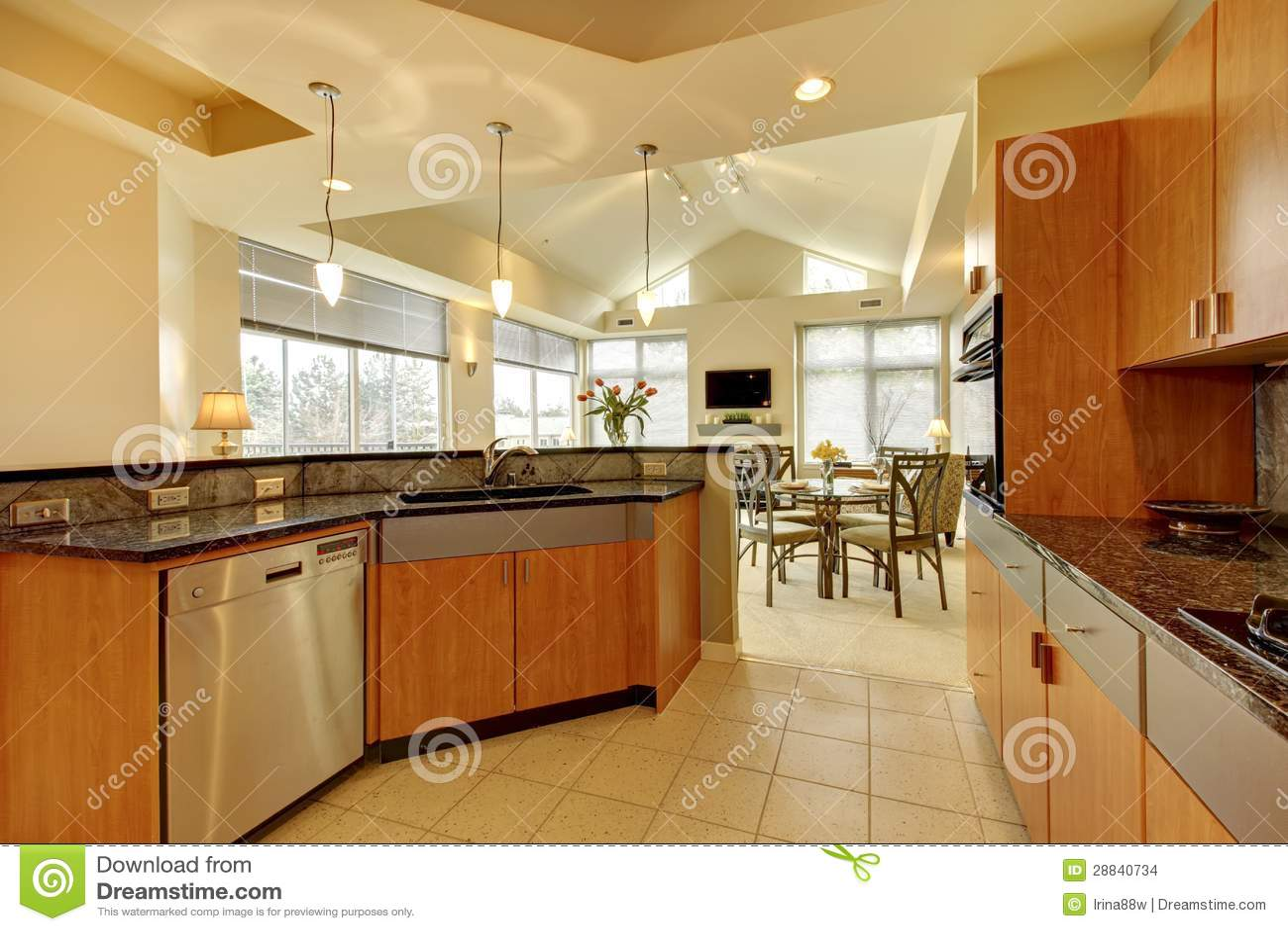 Cucine moderne con soffitto in legno casa moderna con tetto in