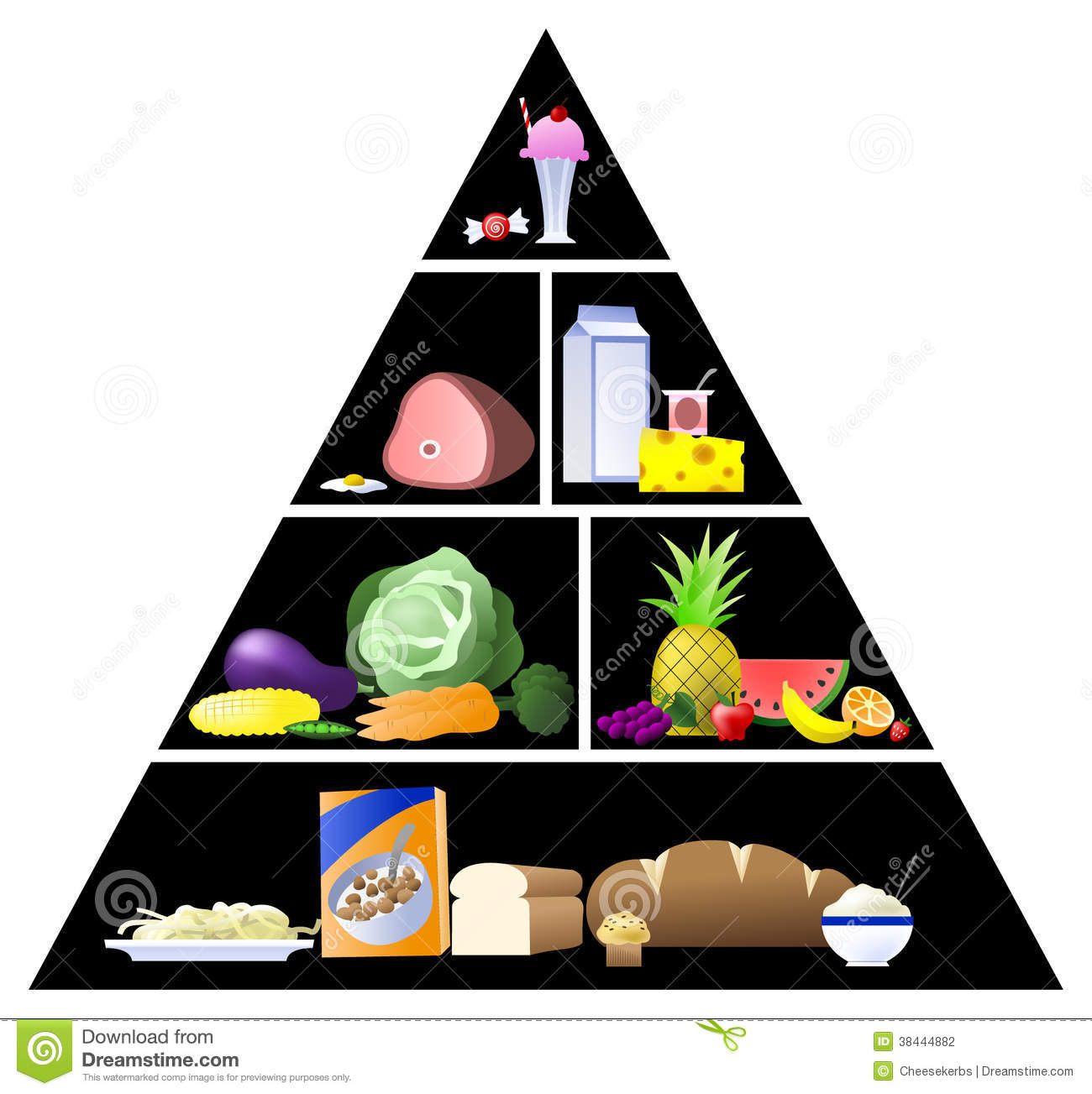 Clip Art Pictures Of Vegetables Graphic Traditional Food Pyramid Vector Stock Photography