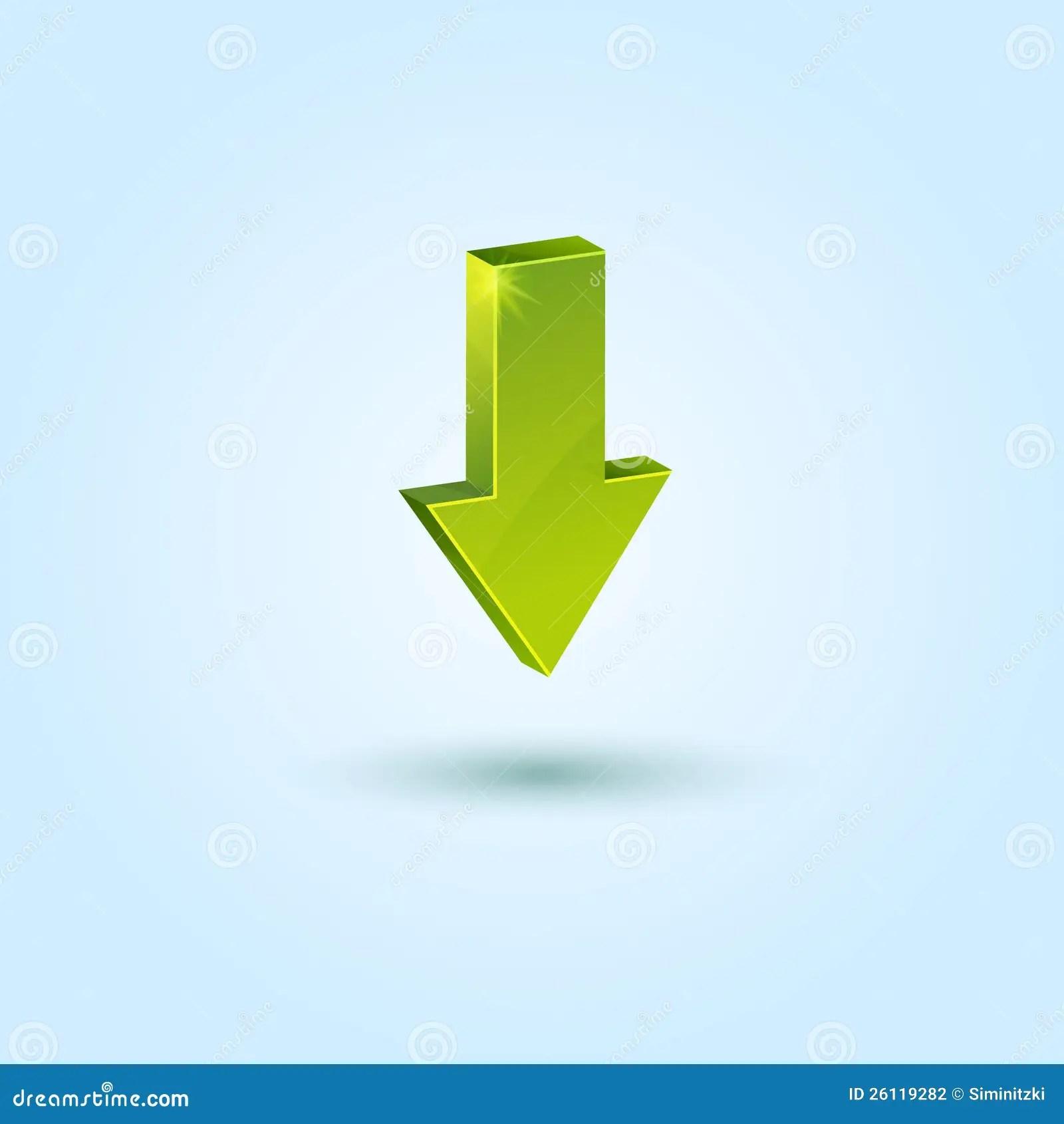 Green Arrow Symbol