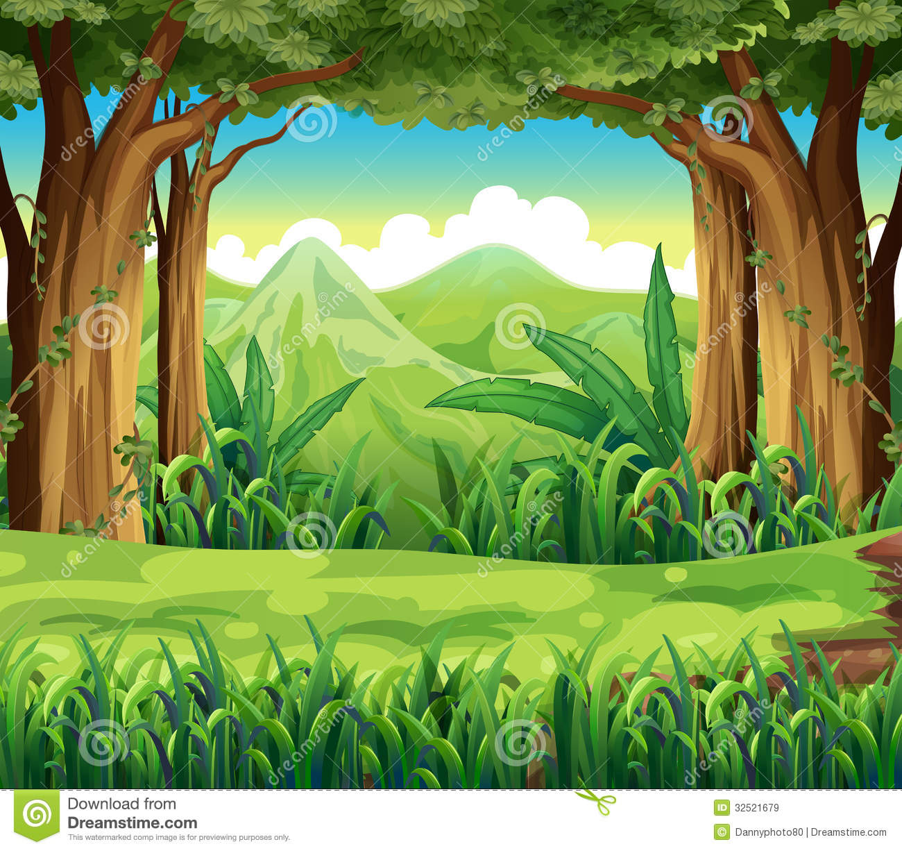 Green Animal Print Wallpaper The Green Forest Stock Vector Image Of Nature Amazon