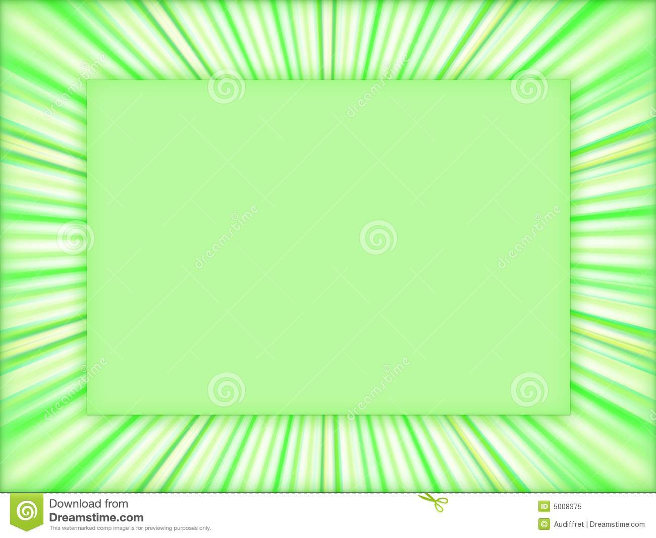 3d Colourful Wallpaper Green Frame Background Stock Illustration Image Of