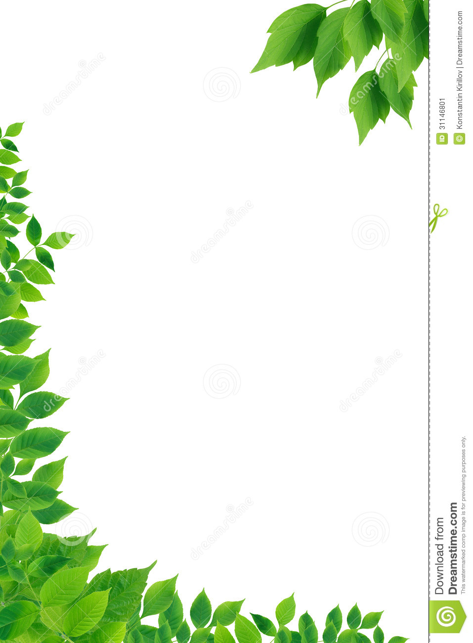 Fall Wallpaper Border Green Leaves Border Stock Image Image Of Background