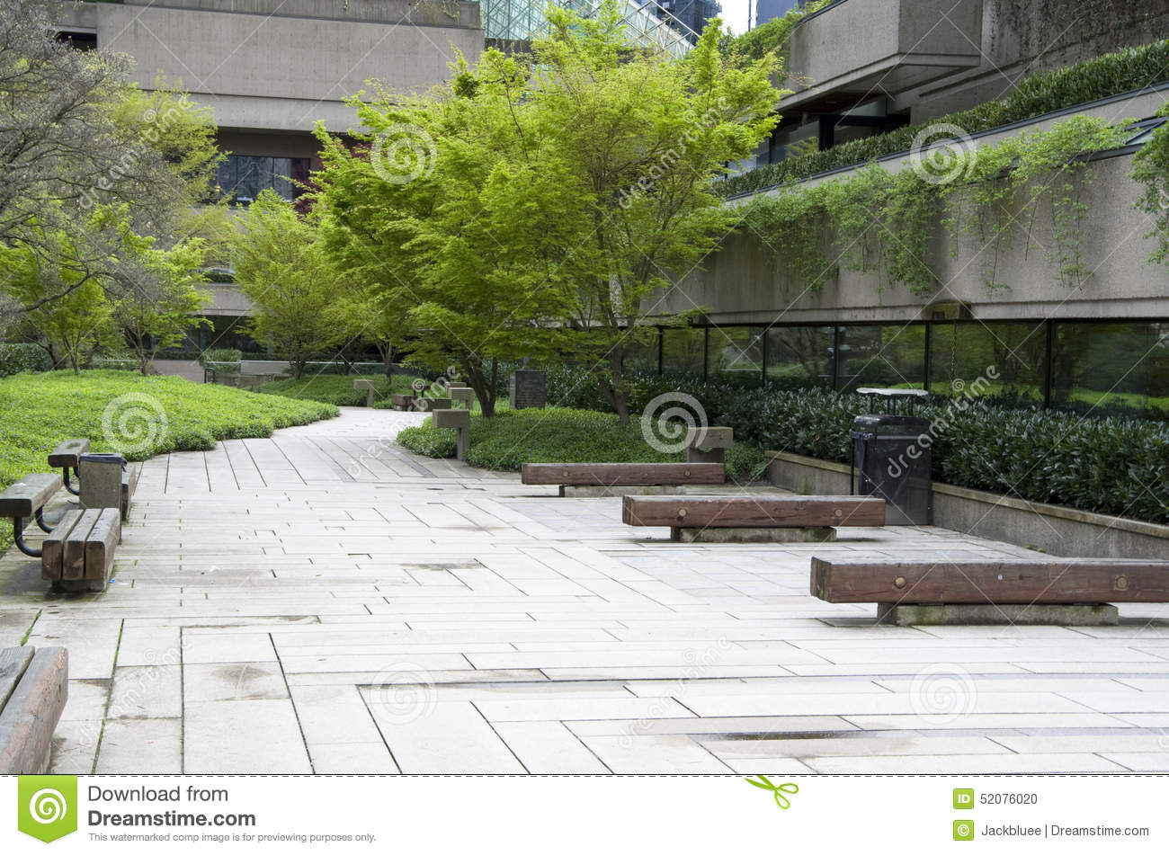 Office Zen Garden Green Office Building Garden Stock Photo Image 52076020
