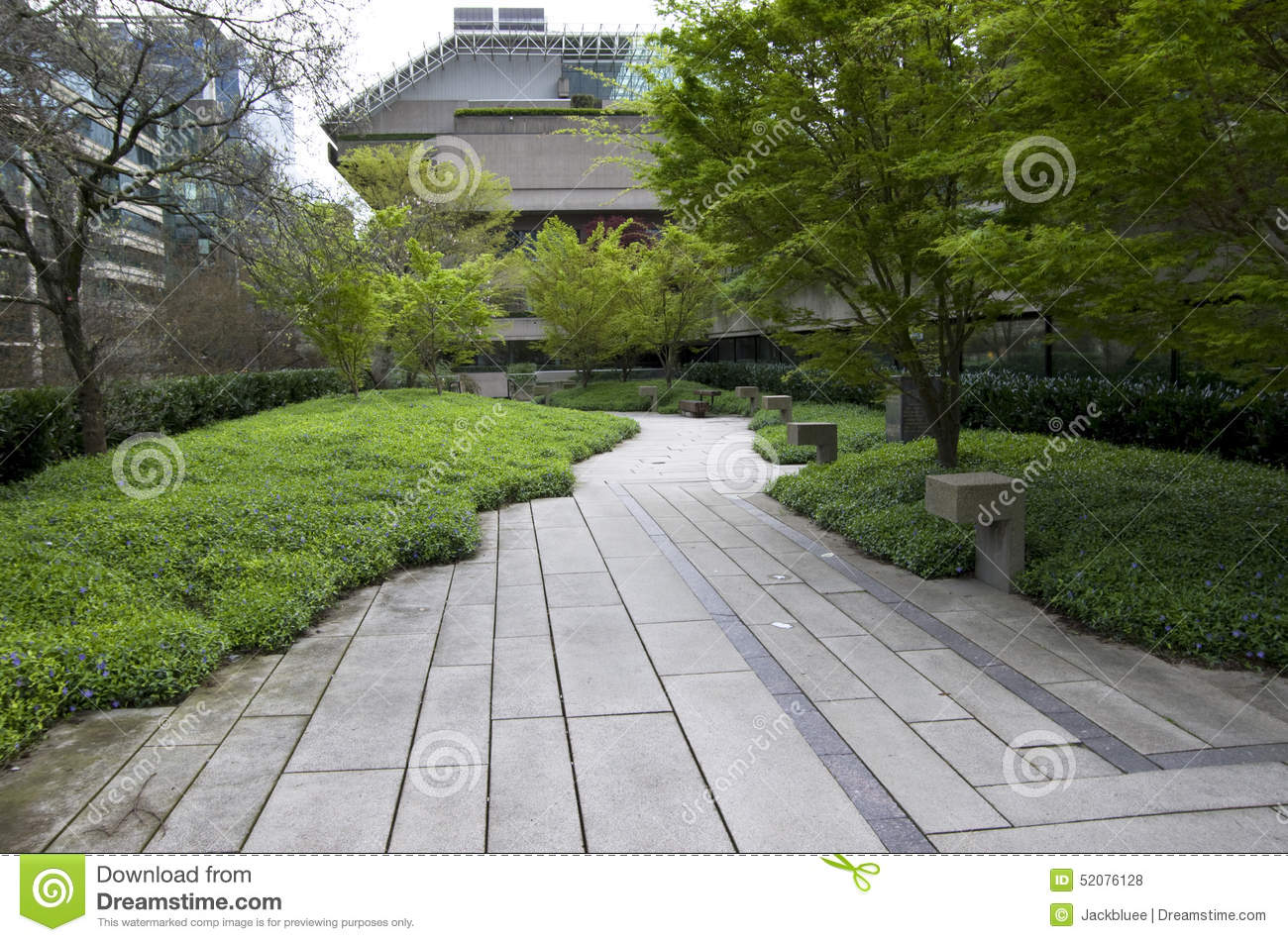 Office Zen Garden Green Office Building Garden Stock Photo Image 52076128