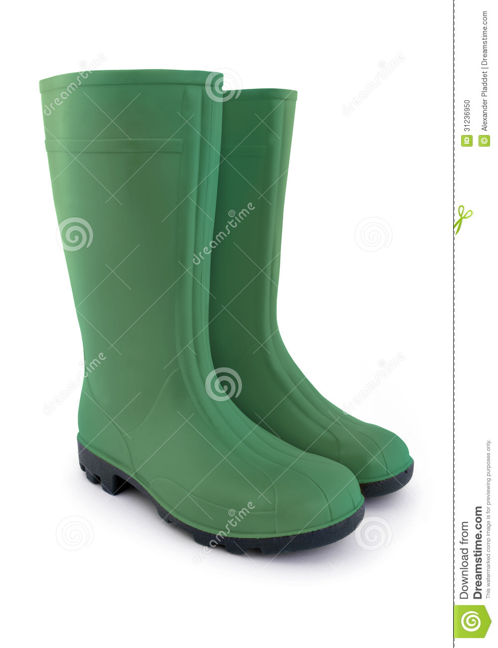 Green Rubber Boots Stock Photo Image 31236950