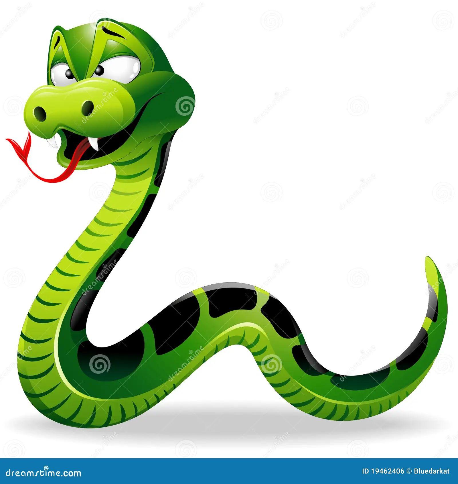 Green snake cartoon royalty free stock image