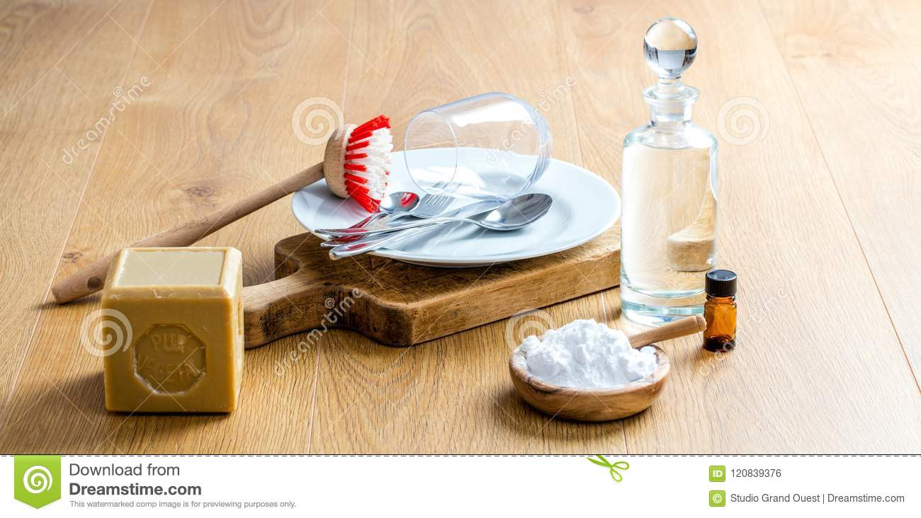 Diy Soap Essential Oils Green Soap Essential Oils And Baking Soda For Diy Cleaning Stock