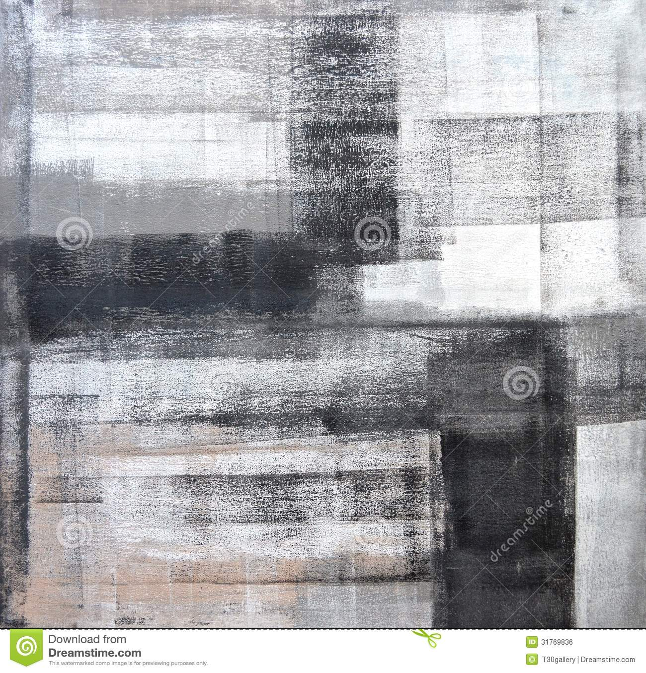 Black White And Gray Paintings Grey And Black Abstract Art Painting Royalty Free Stock